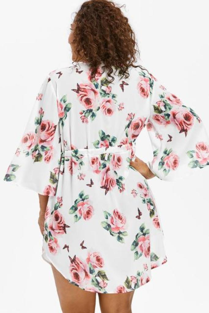 Plus Size Floral Print Dress - PLUS DRESSES - NIGEL MARK