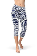 Polynesian Maori Tattoo Capri Leggings - WOMEN BOTTOMS - NIGEL MARK