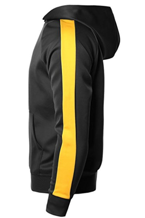 Port Hoodie - Black/ Yellow - Sweaters & Hoodies - NIGEL MARK