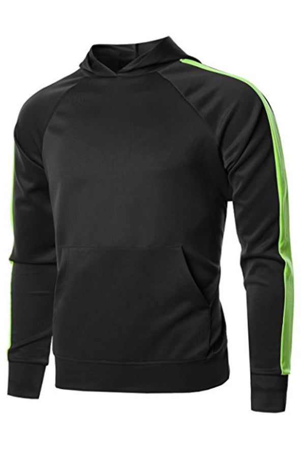 Port Hoodie - Black/Neon Green - Sweaters & Hoodies - NIGEL MARK