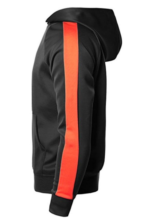 Port Hoodie - Black/Orange - Sweaters & Hoodies - NIGEL MARK