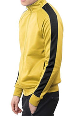 Port Track Jacket - Yellow / Black - JACKETS & COATS - NIGEL MARK