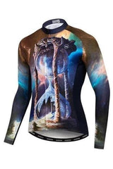 Printing Wolf Cycling Wear Breathable Mountain - MEN ACTIVEWEAR - NIGEL MARK