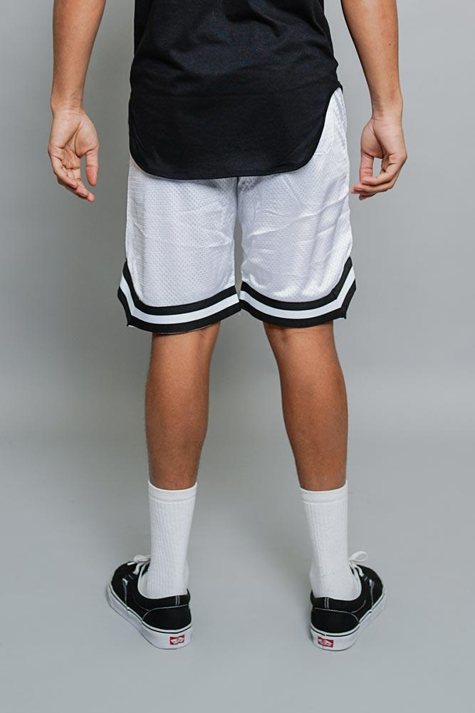 Pro Basketball Shorts - White - MEN SHORTS - NIGEL MARK