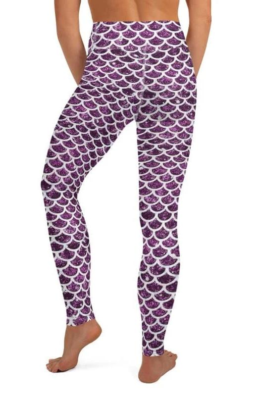 Purple Mermaid Leggings - BOTTOMS - NIGEL MARK