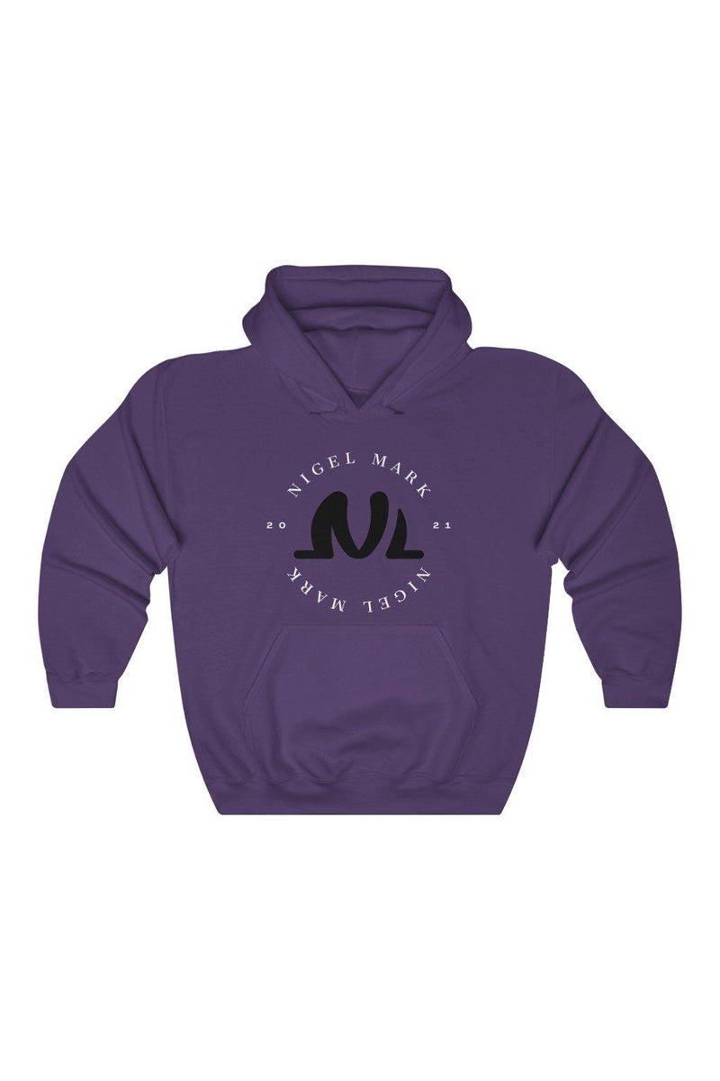Purple NM Circle Hooded Sweatshirt - NM BRANDED - NIGEL MARK
