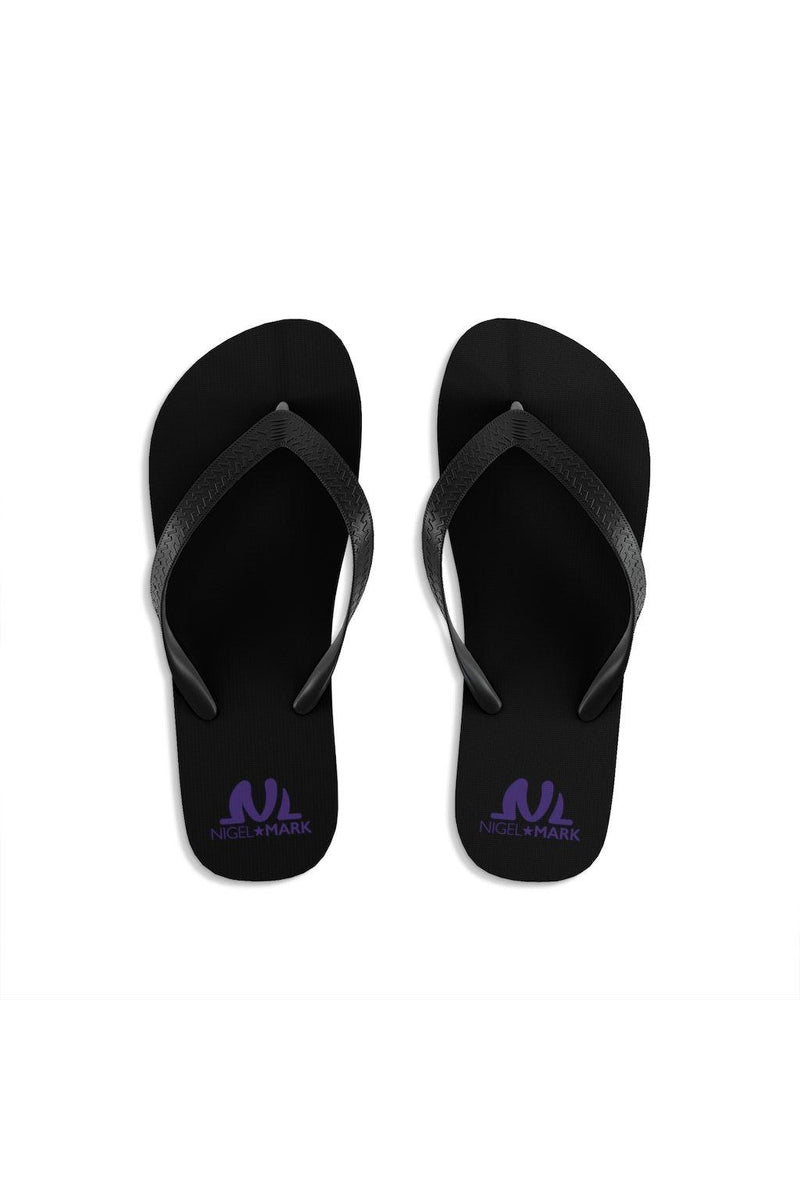 Purple NM Unisex Flip-Flops - NM BRANDED - NIGEL MARK