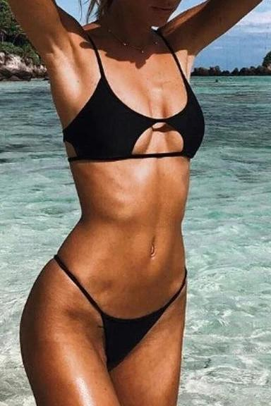 Push Up Cut Out Bikini Set - SWIMWEAR - NIGEL MARK