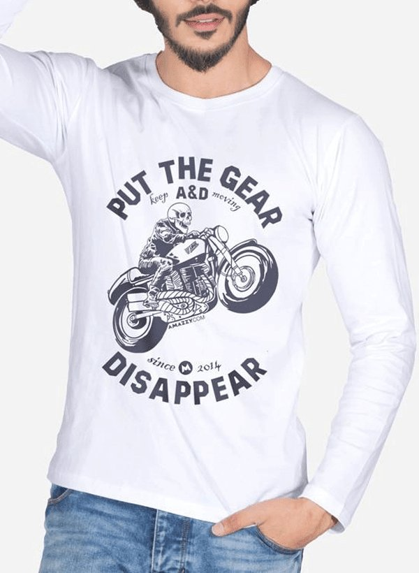 Put The Gear And Disappear Full Sleeves T-shirt - MEN TOPS - NIGEL MARK
