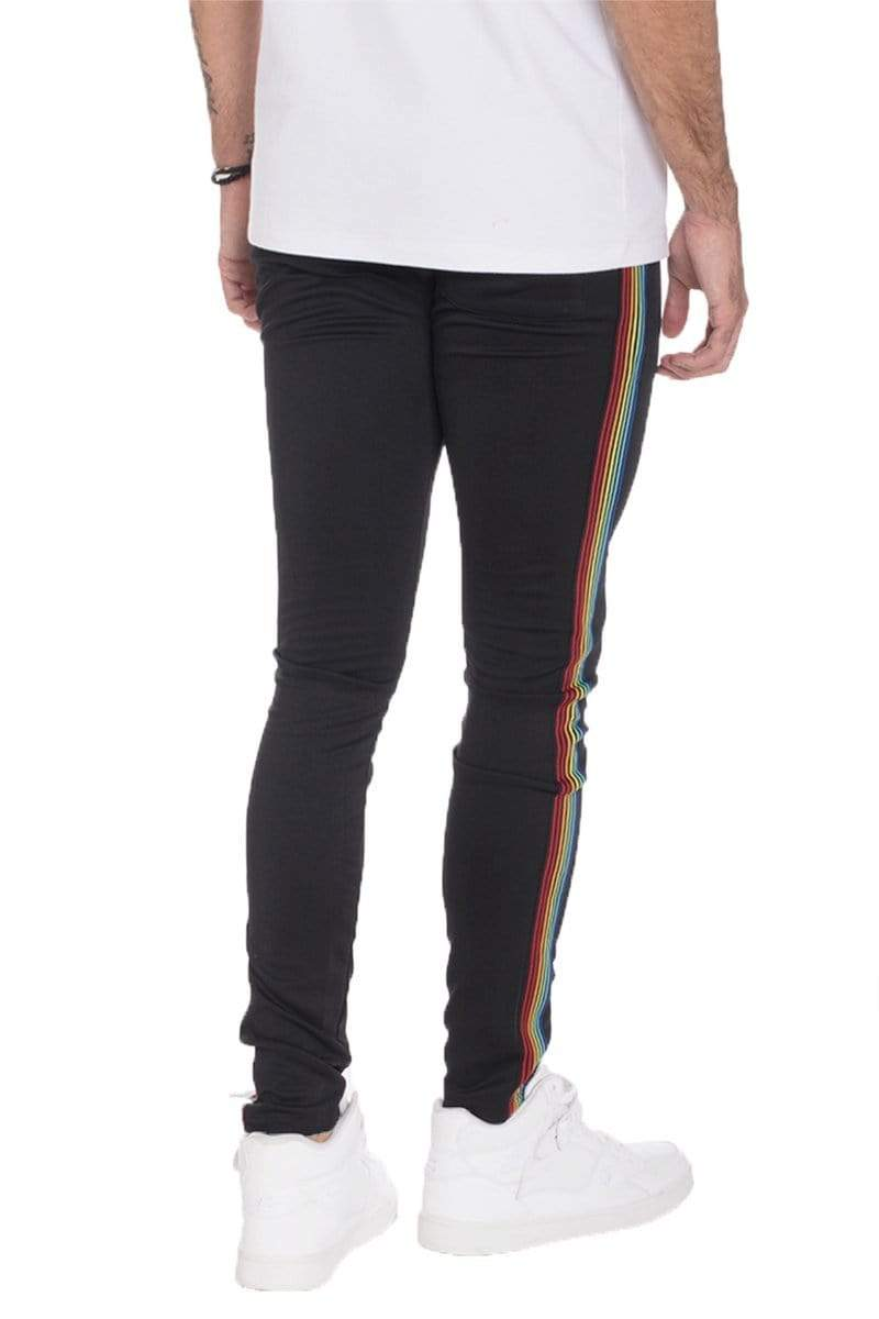 Rainbow Taped Track Pants - MEN BOTTOMS - NIGEL MARK