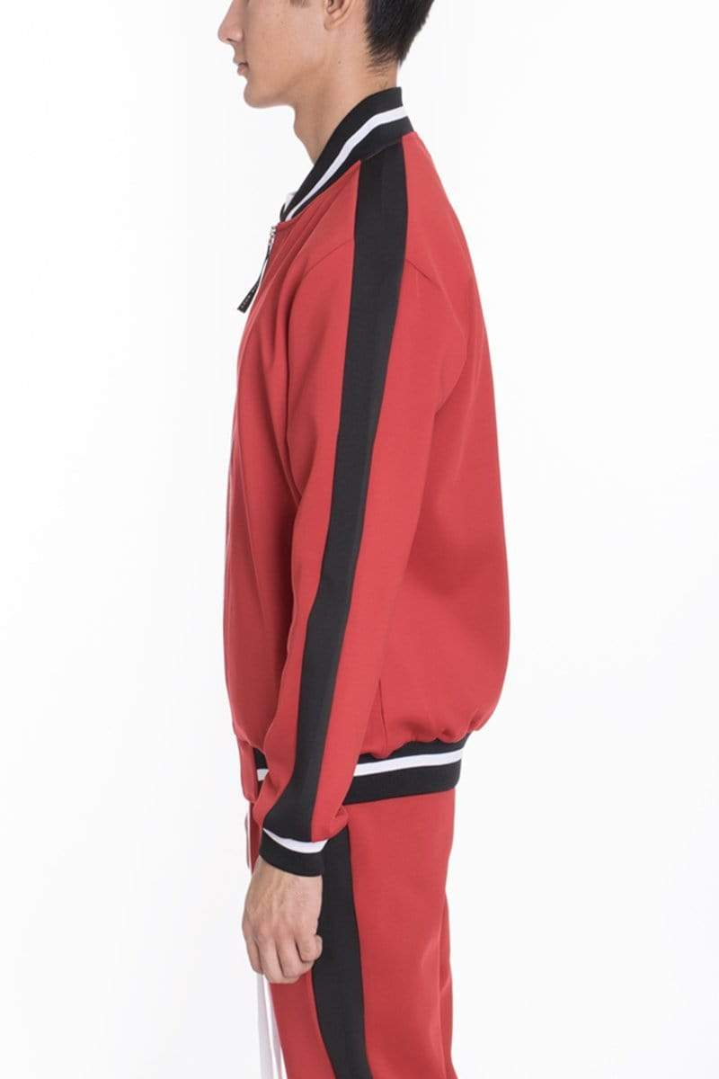 Rally Track Jacket - Red - MEN ACTIVEWEAR - NIGEL MARK
