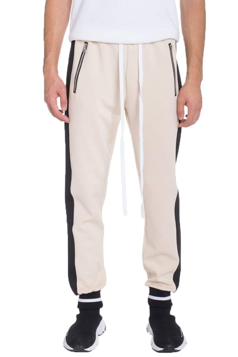 Rally Track Pants - Beige - MEN BOTTOMS - NIGEL MARK