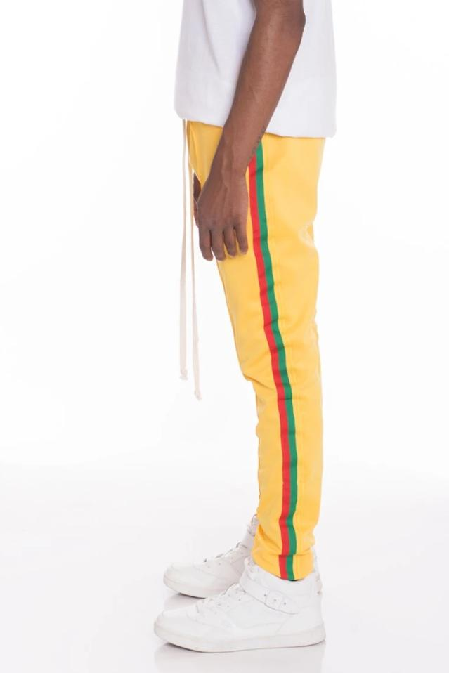Rasta Track Pants - Yellow - MEN BOTTOMS - NIGEL MARK