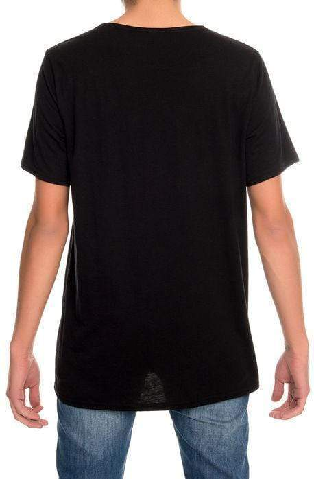 Raw Neck Tri-Blend Tee (Black) - MEN TOPS - NIGEL MARK