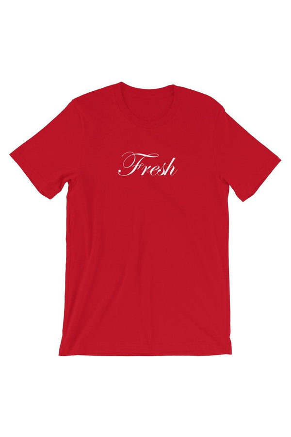 Red Fresh Script T-Shirt - Men's Clothing - NIGEL MARK