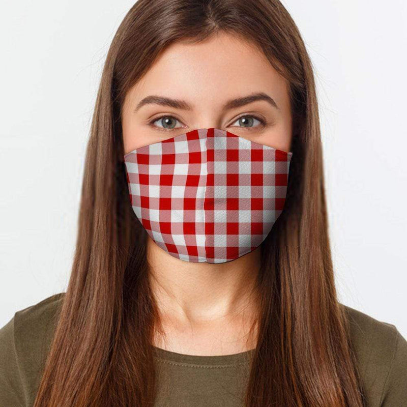 Red Gingham Face Cover - BEAUTY & WELLNESS - NIGEL MARK