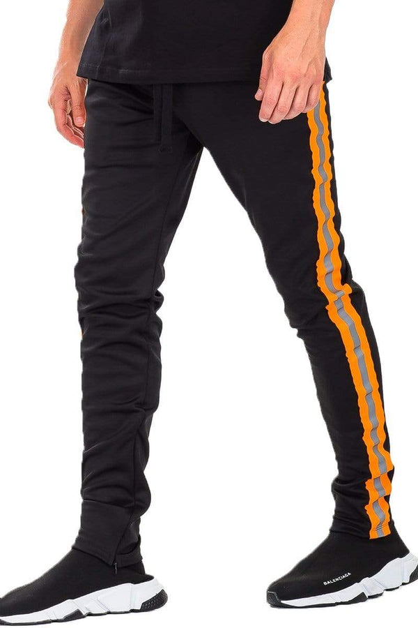 Reflective Tape Track Pants - MEN ACTIVEWEAR - NIGEL MARK