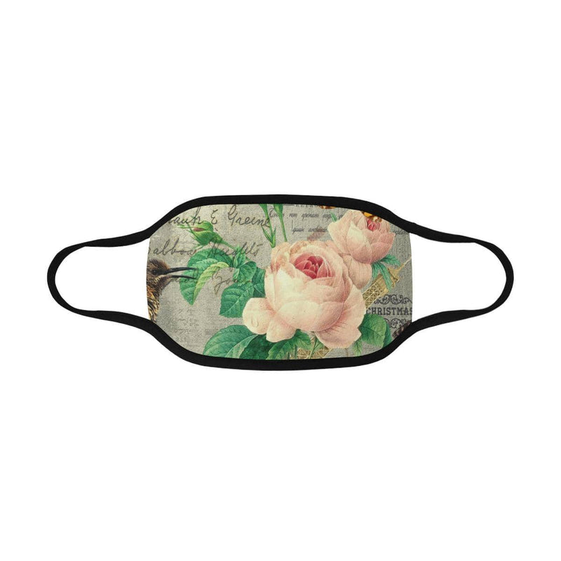 Retro Rose Hand-Made Fabric Face Mask - BEAUTY & WELLNESS - NIGEL MARK