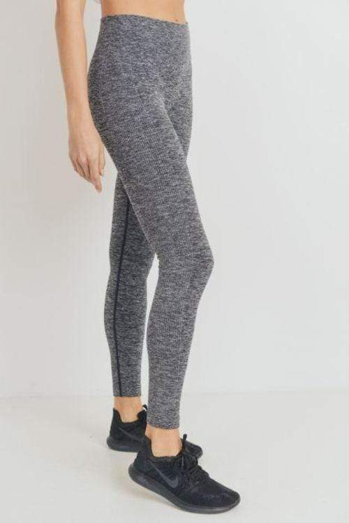 Ribbed Side Track Essential Seamless Melange - ACTIVEWEAR - NIGEL MARK