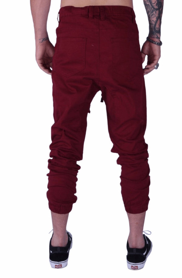 Rich V3 Twill Joggers (Burgundy) - MEN BOTTOMS - NIGEL MARK