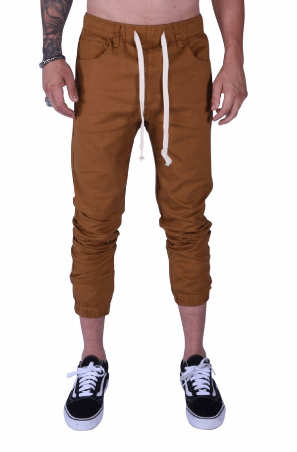 Rich V3 Twill Joggers (Dark Wheat) - MEN BOTTOMS - NIGEL MARK