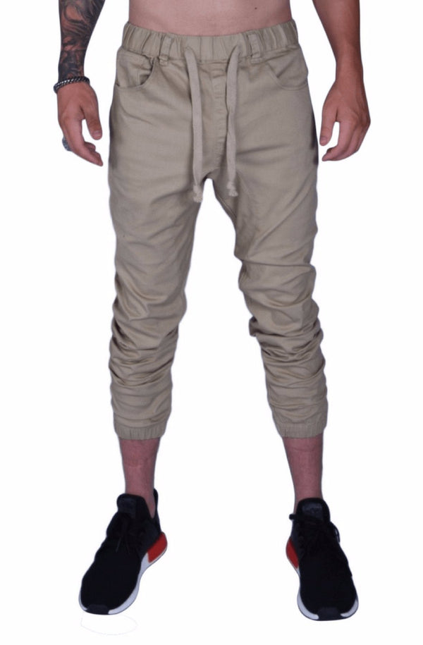 Rich V3 Twill Joggers (Khaki) - MEN BOTTOMS - NIGEL MARK