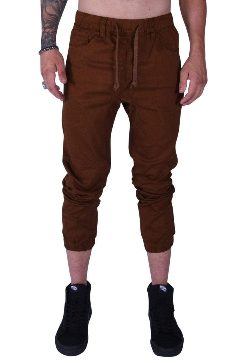 Rich V3 Twill Joggers (Mocha) - MEN BOTTOMS - NIGEL MARK