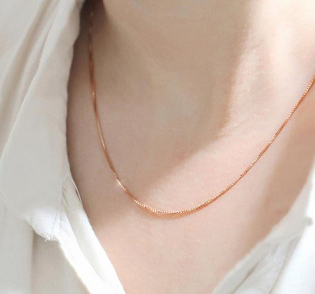 Rose Gold Necklace Chain - ACCESSORIES - NIGEL MARK