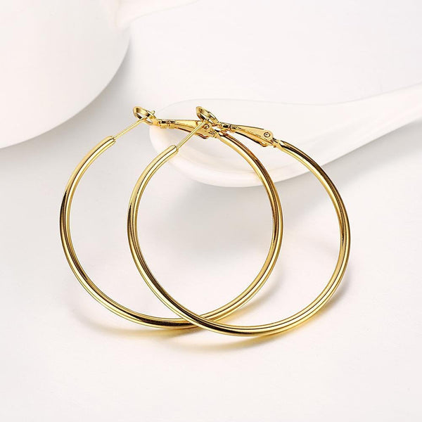 Round Hoop Earrings (42mm) - ACCESSORIES - NIGEL MARK