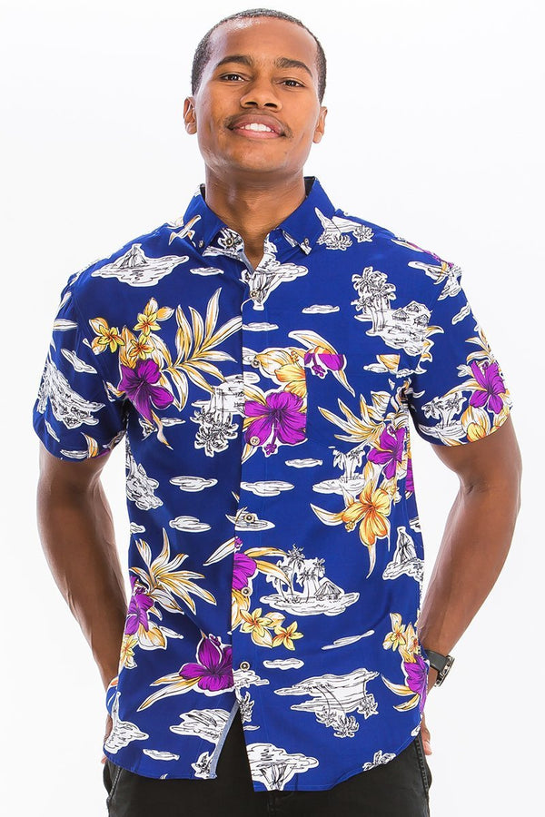 Royal Island Button Down - MEN TOPS - NIGEL MARK