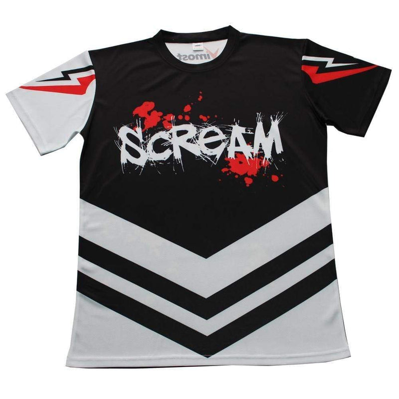 Scream Black and White Gaming Jersey - MEN TOPS - NIGEL MARK