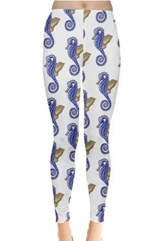 Seahorses Leggings - BOTTOMS - NIGEL MARK