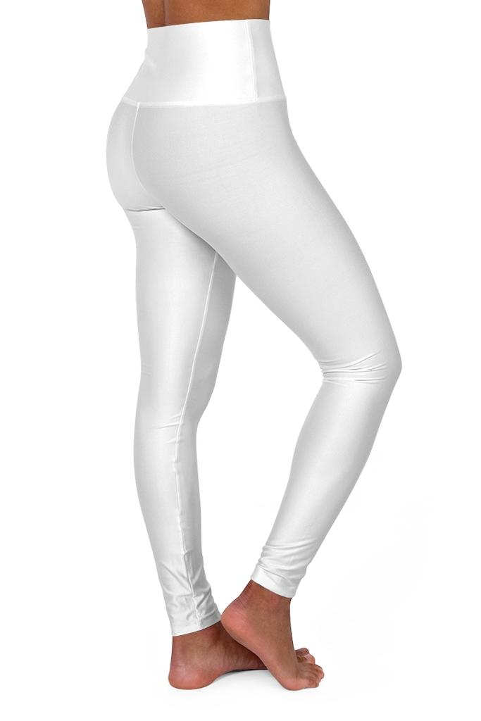 women's white and red printed legging pants