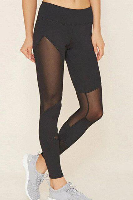 Sexy Mesh Patchwork Leggings - BOTTOMS - NIGEL MARK