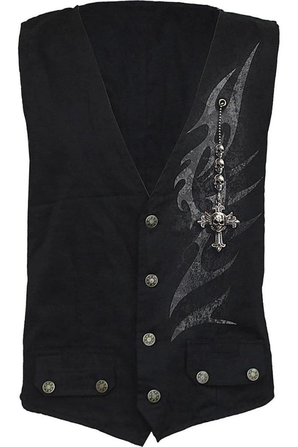 SHADOW MASTER - Gothic Waistcoat With Four Buttons - MEN JACKETS & COATS - NIGEL MARK