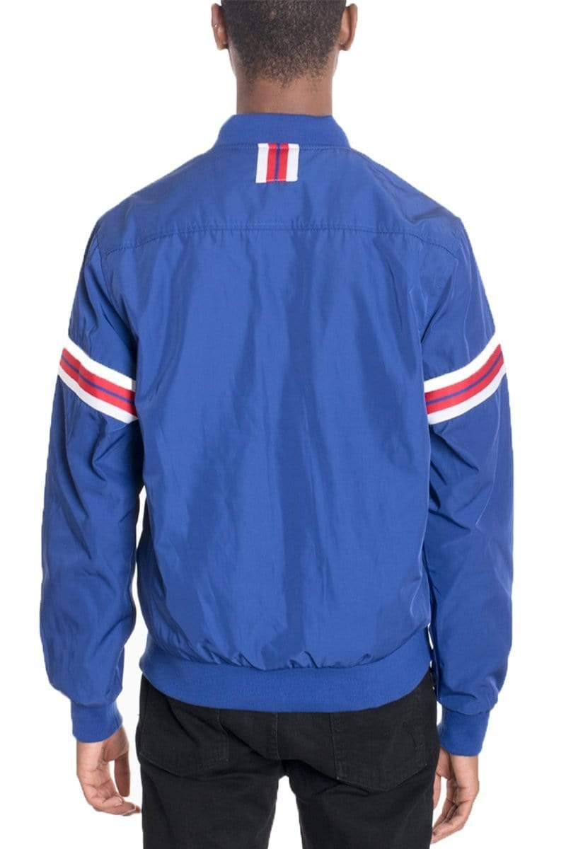 Shield Bomber - Blue - JACKETS & COATS - NIGEL MARK