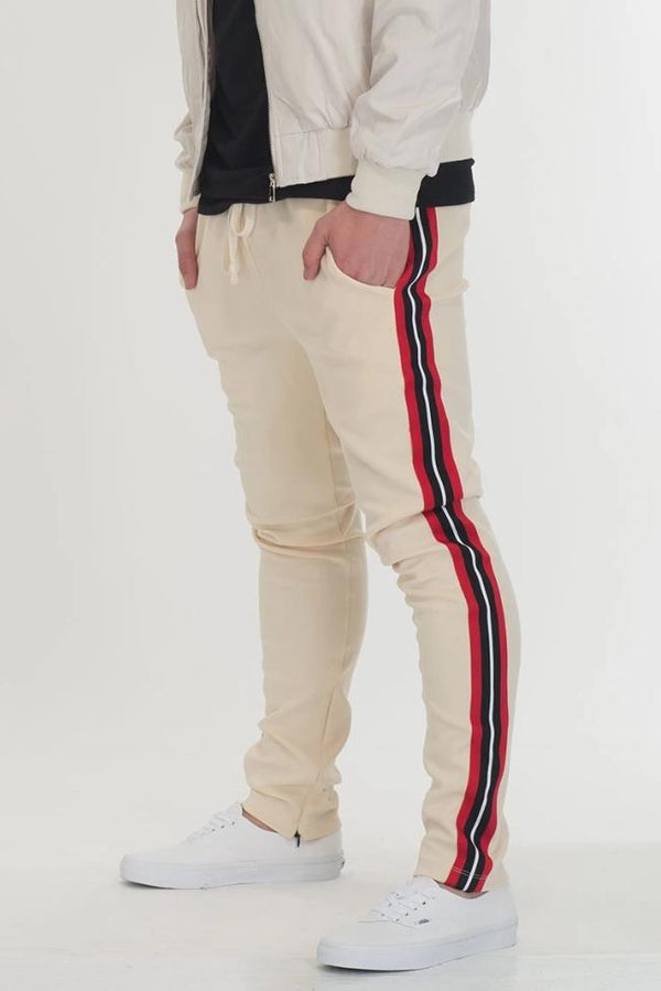 Shield Taped Pants - Beige - MEN BOTTOMS - NIGEL MARK