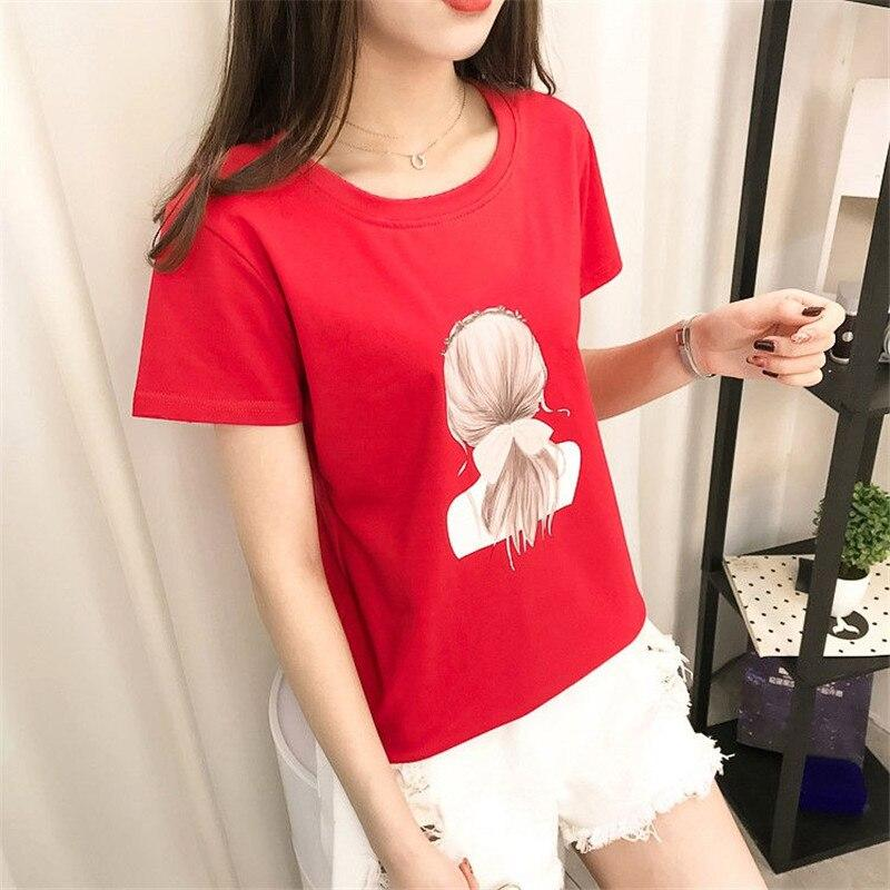 Short Sleeve Cartoon Print Korean Ulzzang T - WOMEN TOPS - NIGEL MARK
