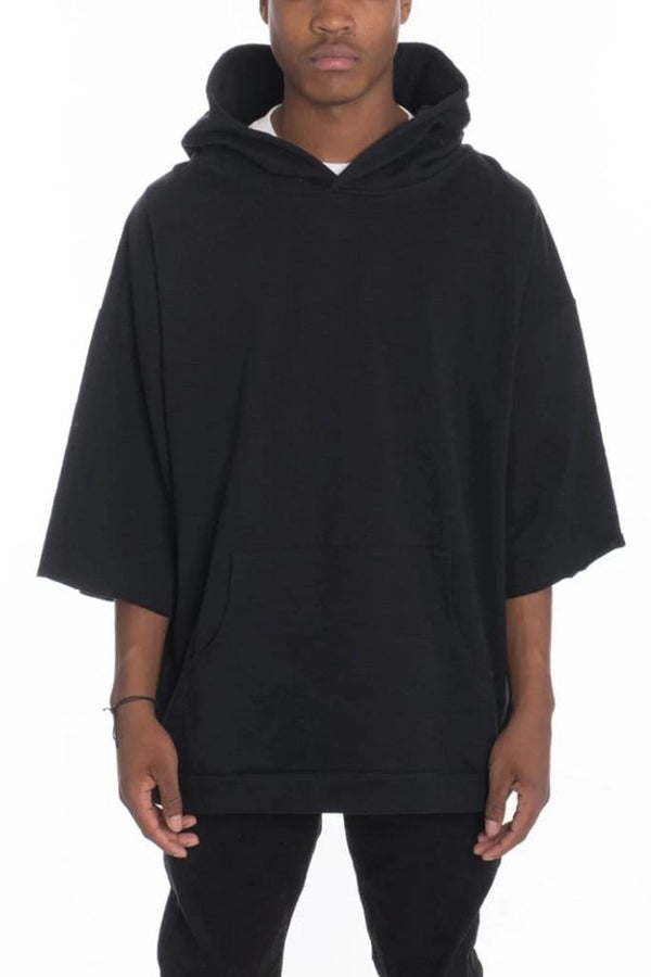 Short Sleeve Hood Tee - Black - MEN TOPS - NIGEL MARK