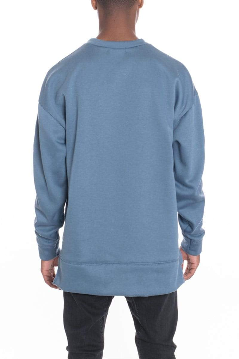 Side Panel Pullover - Sage - MEN TOPS - NIGEL MARK
