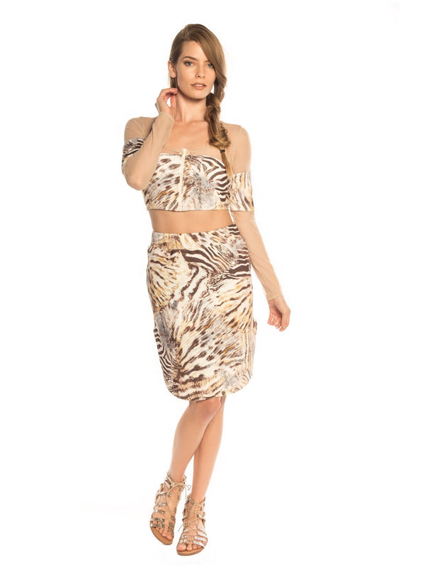 Side Slit Skirt - Swimwear - NIGEL MARK