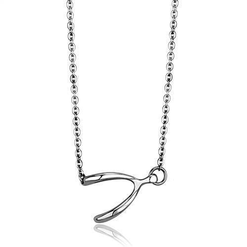 Silver Wishbone Necklace - ACCESSORIES - NIGEL MARK
