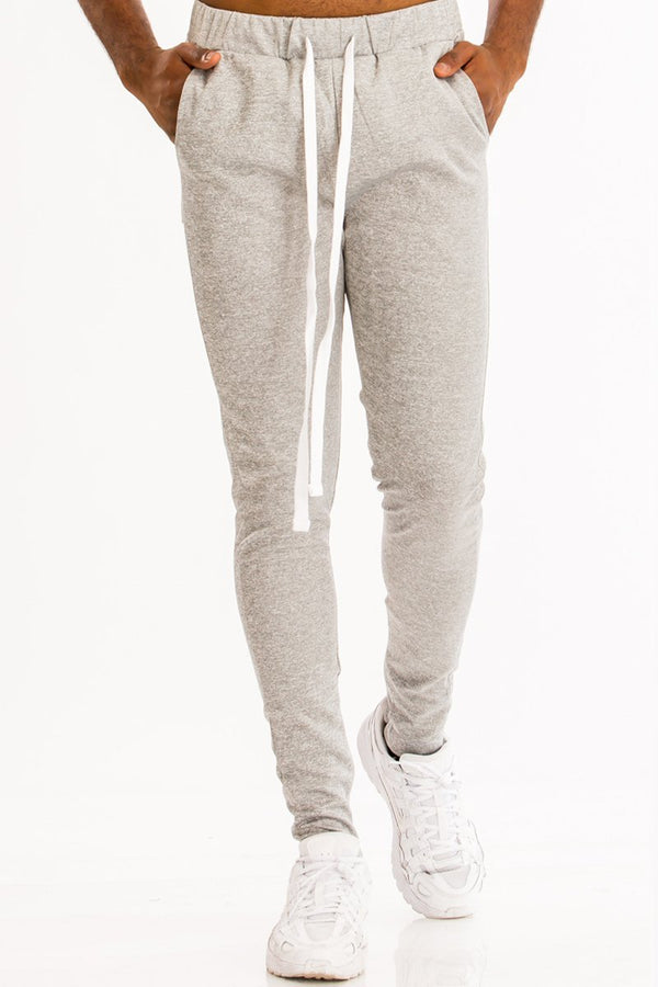 heather gray men's sweatpants