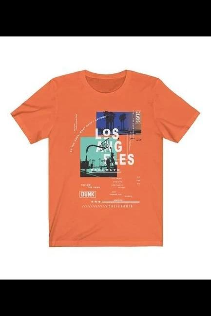 Skate at Los Angeles California Short Sleeve Tee - MEN TOPS - NIGEL MARK