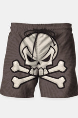 Skull and Crossbones Swim Shorts - MEN SHORTS - NIGEL MARK