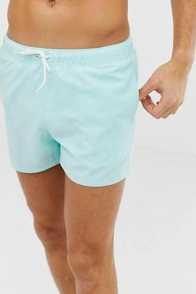 Sky Blue Swim Shorts - MEN SHORTS - NIGEL MARK