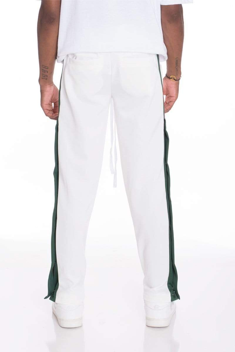 Snap Button Track Set - White - MEN ACTIVEWEAR - NIGEL MARK