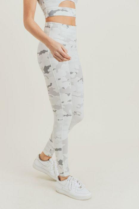 Snow Camo Highwaist Leggings - BOTTOMS - NIGEL MARK
