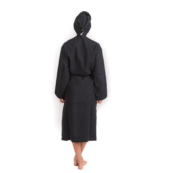 Solid Black Bathrobe - Bath & Beauty - NIGEL MARK