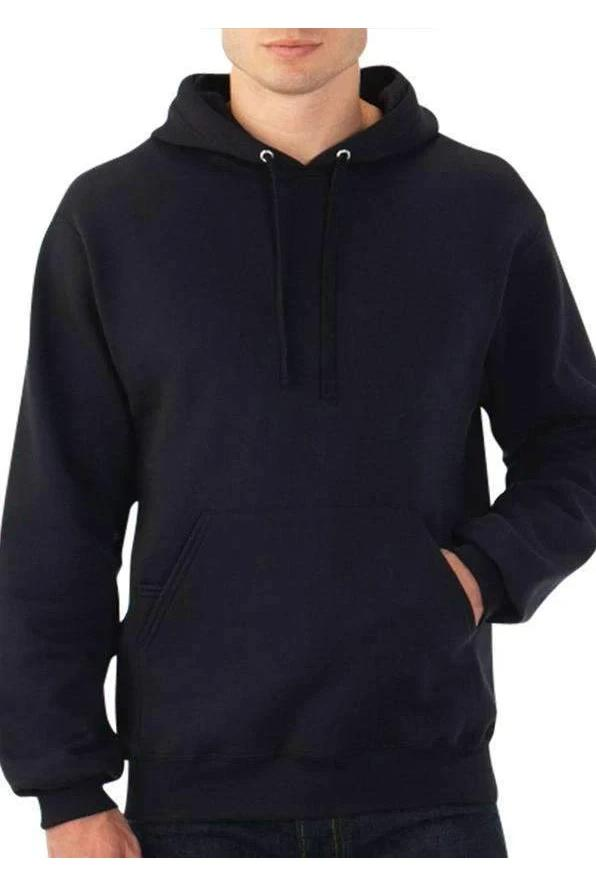 Solid Black Hoodie - MEN TOPS - NIGEL MARK